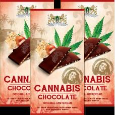 CBD SATIVA CANNABIS CHOCOLATE - DARK - 80G