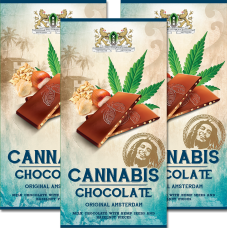 CBD SATIVA CANNABIS CHOCOLATE - MILK - 80G